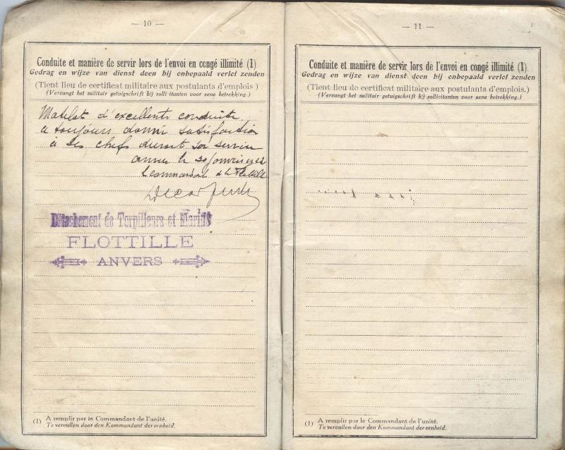 PASPORT TORPILLEURS MARINS 1919 Livret19
