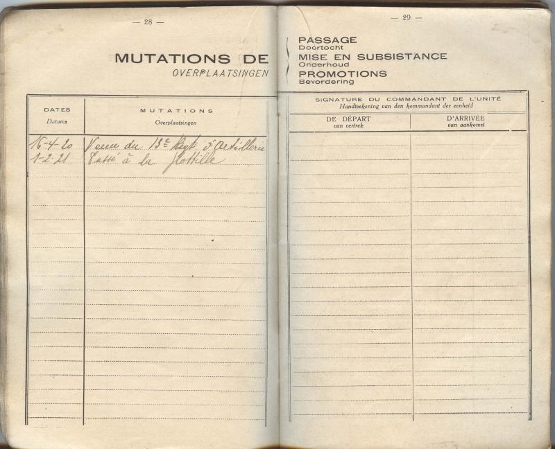 PASPORT TORPILLEURS MARINS 1919 Livret21