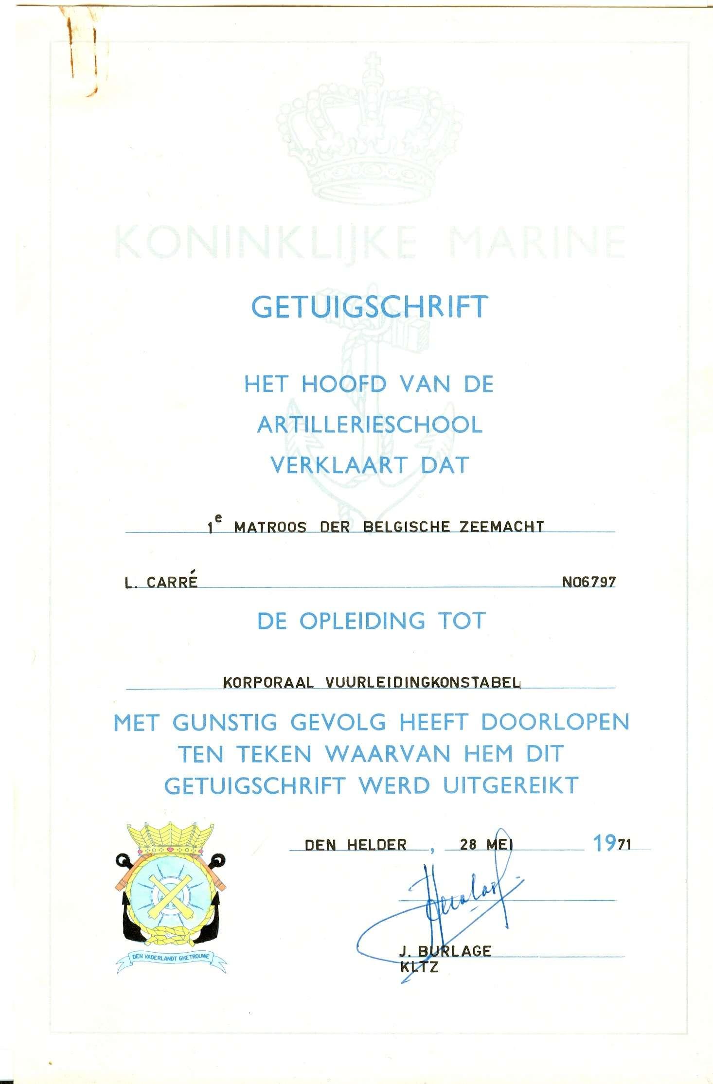 IN MEMORIUM LUC CARRE (loopbaan zeemacht) Luk00214
