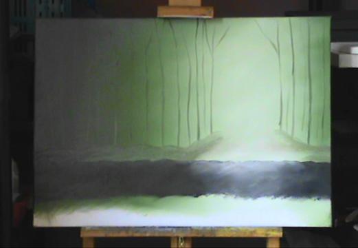 Ma première progression acrylique/huile 26112011