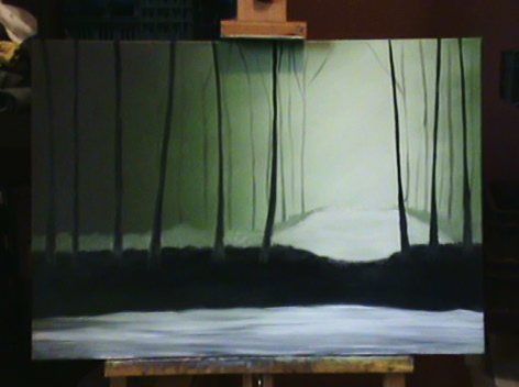 Ma première progression acrylique/huile 26112012