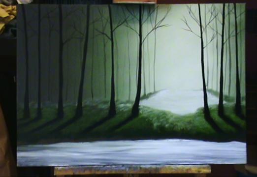 Ma première progression acrylique/huile 27112011