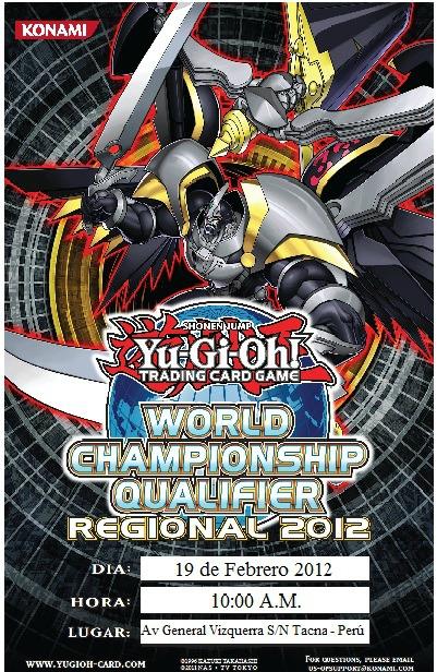 2DO REGIONAL CLASIFICATORIO TACNA WCQ 2012 - DOM 19 FEB 2012 Poster11