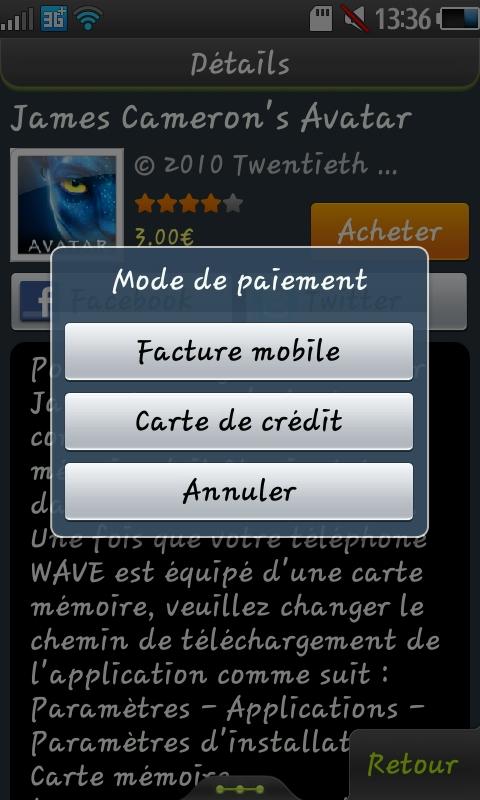 Mise à jour Samsung Apps 20110713