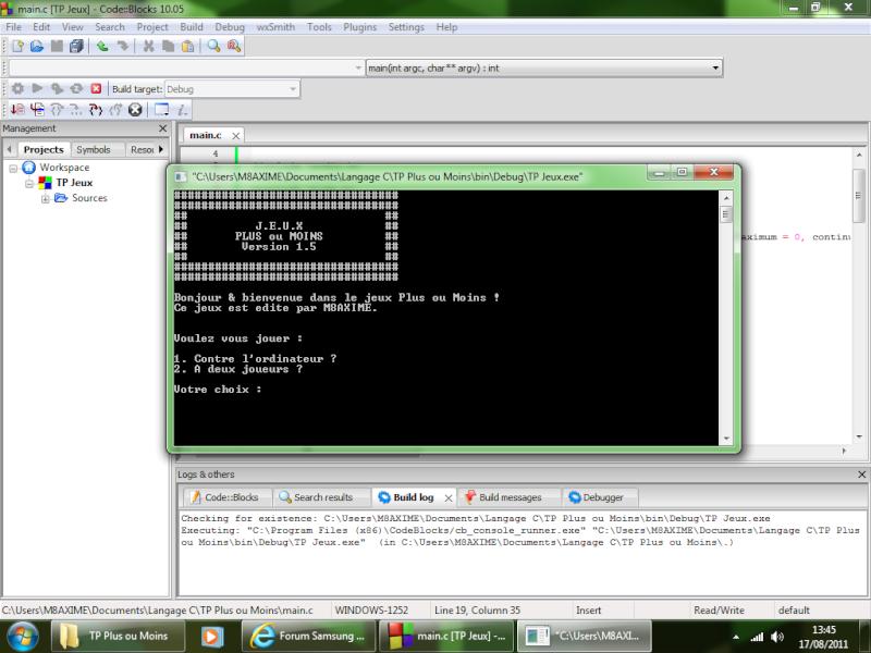Mes débuts dans la programmation C/C++ - Page 2 Versio10