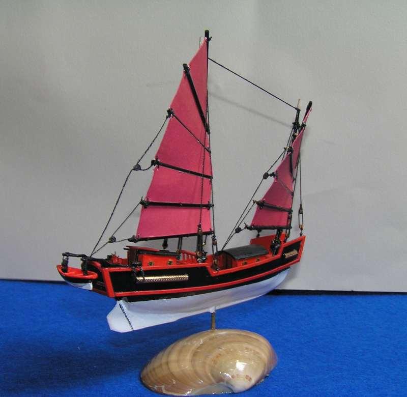 """Jonque chinoise """"La belle de Shangai""""bateau-moule 5511"""