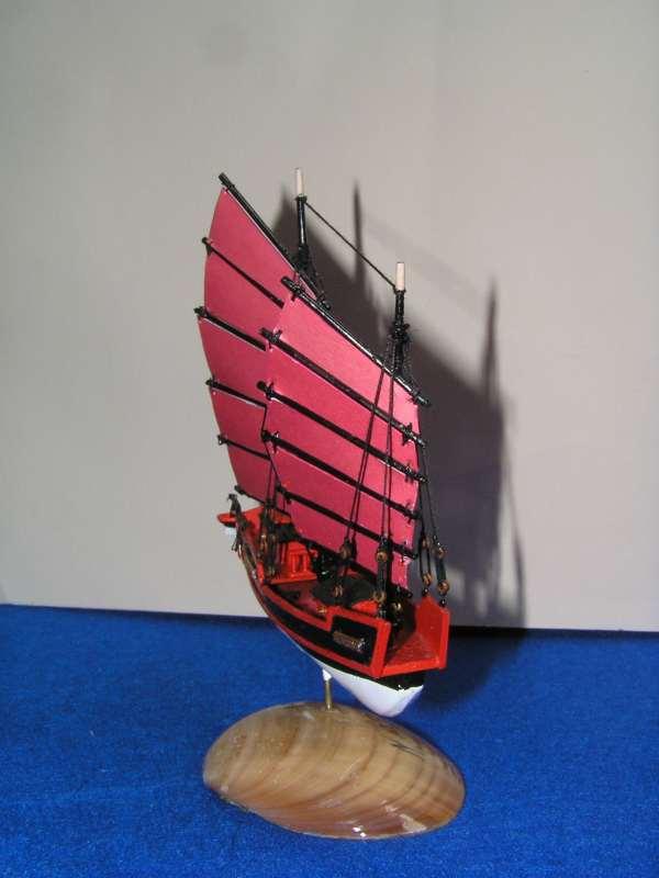 """Jonque chinoise """"La belle de Shangai""""bateau-moule 5611"""