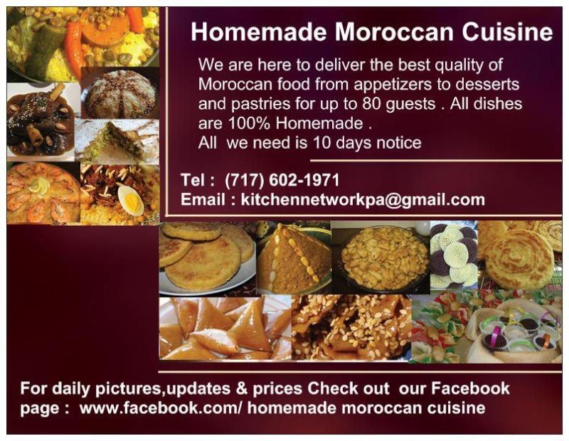 Pour passer votre commande auprès de Moroccan Food Cuisine aux Etats-Unis! 55341110