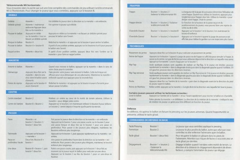 PES 2012/2013 - Toutes les commandes et touches: Playmaker, Manette, et Wiimote. Wiimot10