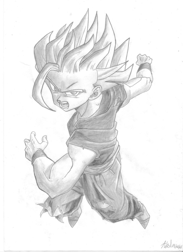 C'est Donk mes dessins Gohan_11