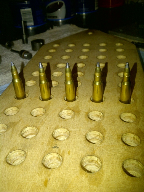 Home made 22lr to 223 bullets Loaded10