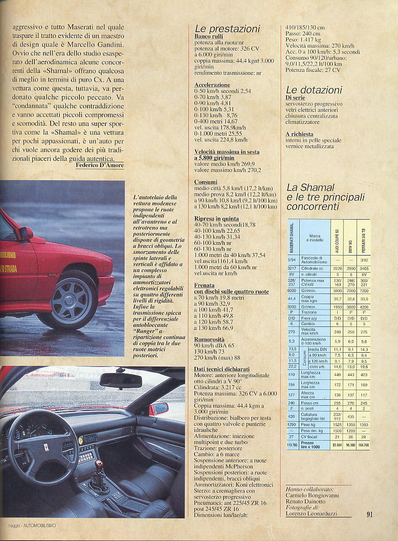 prova Shamal automobilismo maggio 1994 00611