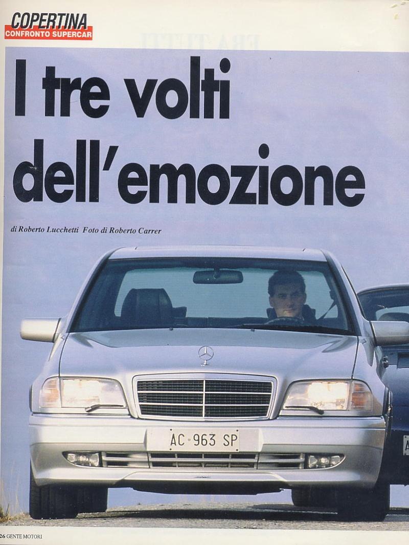 prova e confronto tra quattroporte IV 2.0 vs mercedes c36amg vs porsche carrera 933... gente motori...gennaio 1996 01310