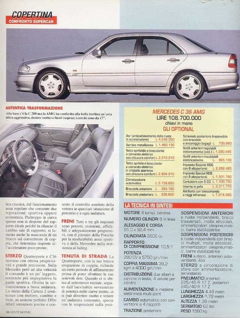prova e confronto tra quattroporte IV 2.0 vs mercedes c36amg vs porsche carrera 933... gente motori...gennaio 1996 01910