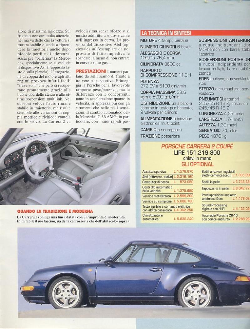 prova e confronto tra quattroporte IV 2.0 vs mercedes c36amg vs porsche carrera 933... gente motori...gennaio 1996 02010