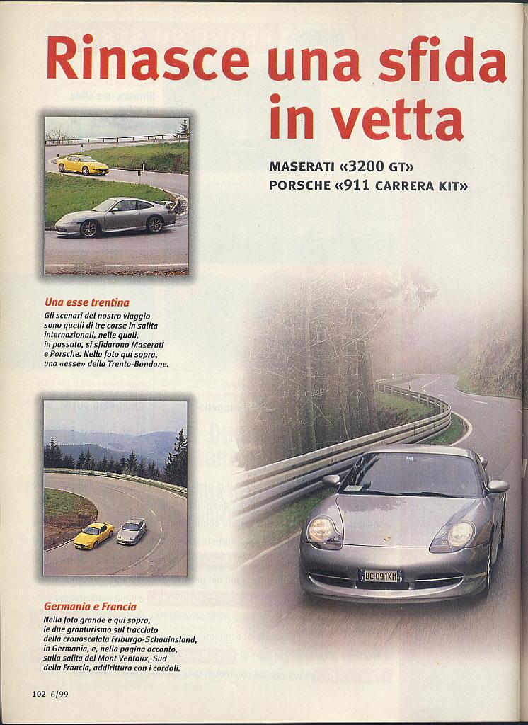 megaprova 3200gt vs 996 carrera ....quattroruote...giugno 1999 02610