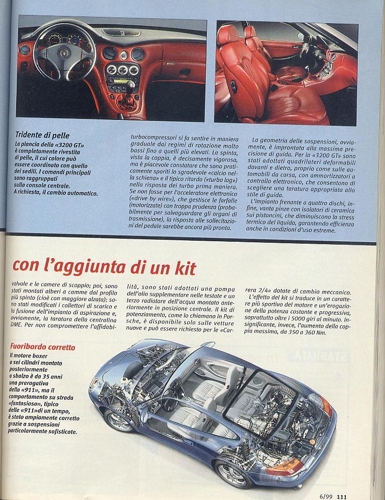 megaprova 3200gt vs 996 carrera ....quattroruote...giugno 1999 02710