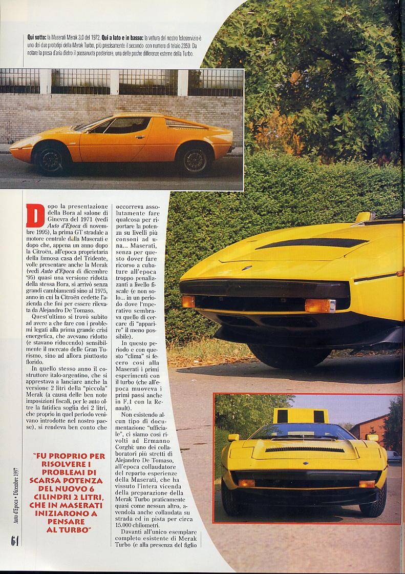 interessante articolo Merak turbo....auto d'epoca  dicembre 1997 02711