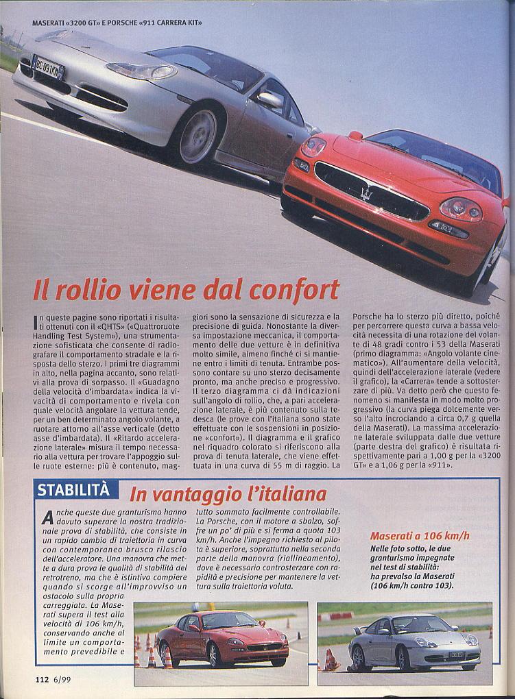 megaprova 3200gt vs 996 carrera ....quattroruote...giugno 1999 02811