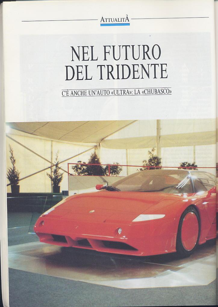piccola intervista a DeTomaso e presentazioni nuovi modelli ...motor ..febbraio 1991 02910