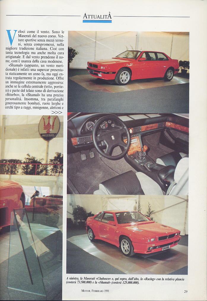 piccola intervista a DeTomaso e presentazioni nuovi modelli ...motor ..febbraio 1991 03010