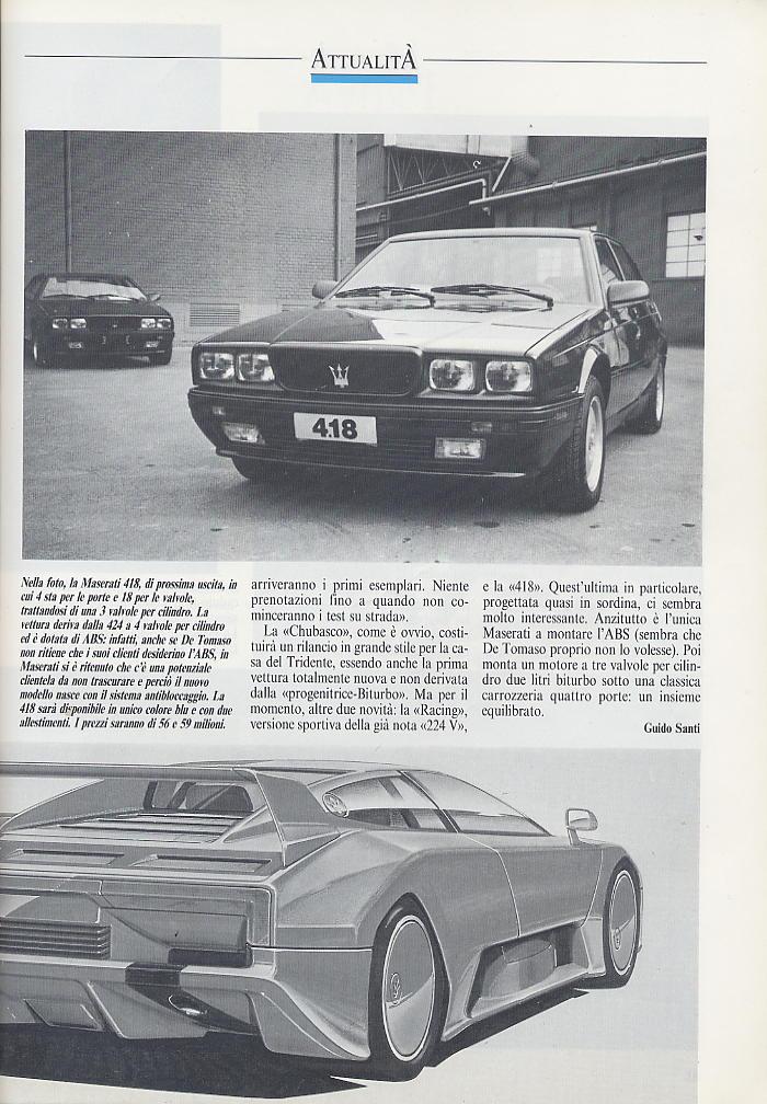 piccola intervista a DeTomaso e presentazioni nuovi modelli ...motor ..febbraio 1991 03210