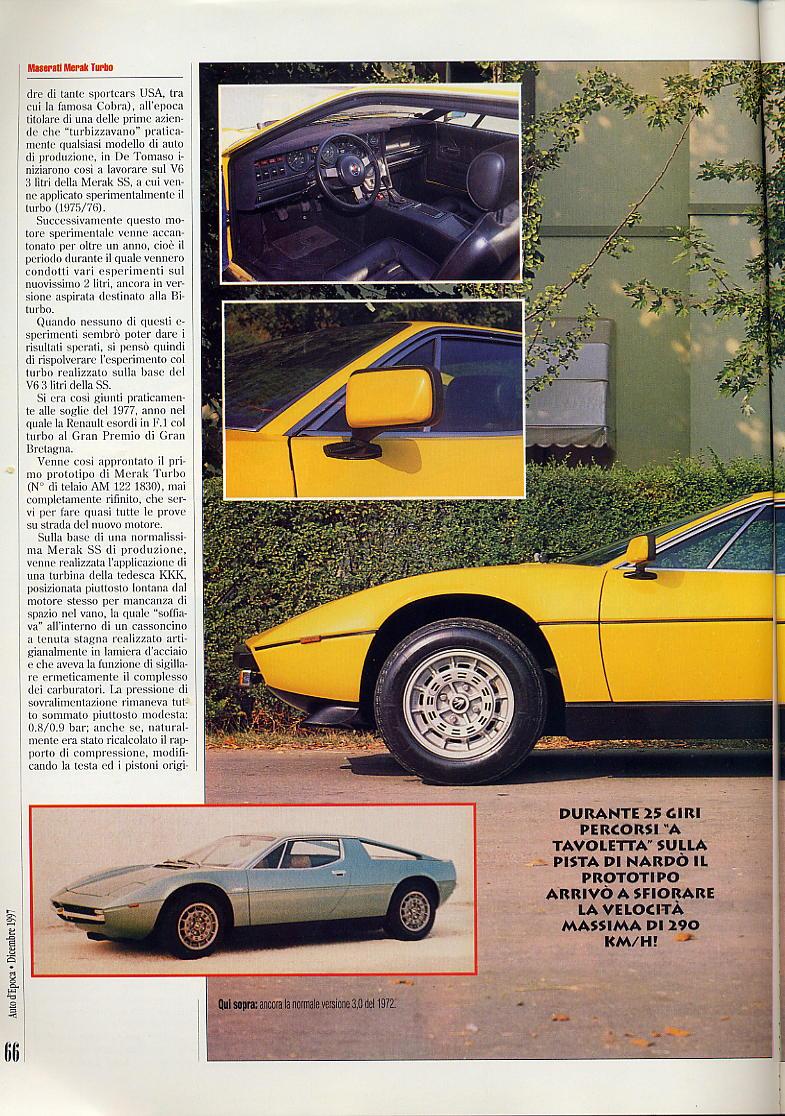 interessante articolo Merak turbo....auto d'epoca  dicembre 1997 03411