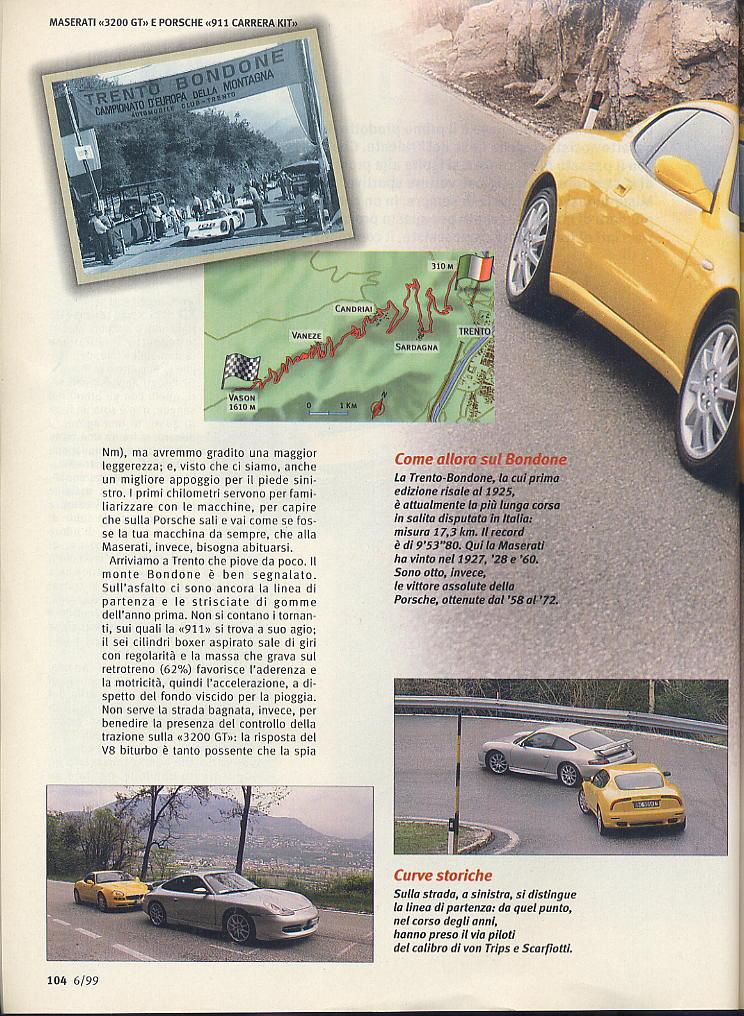 megaprova 3200gt vs 996 carrera ....quattroruote...giugno 1999 03510