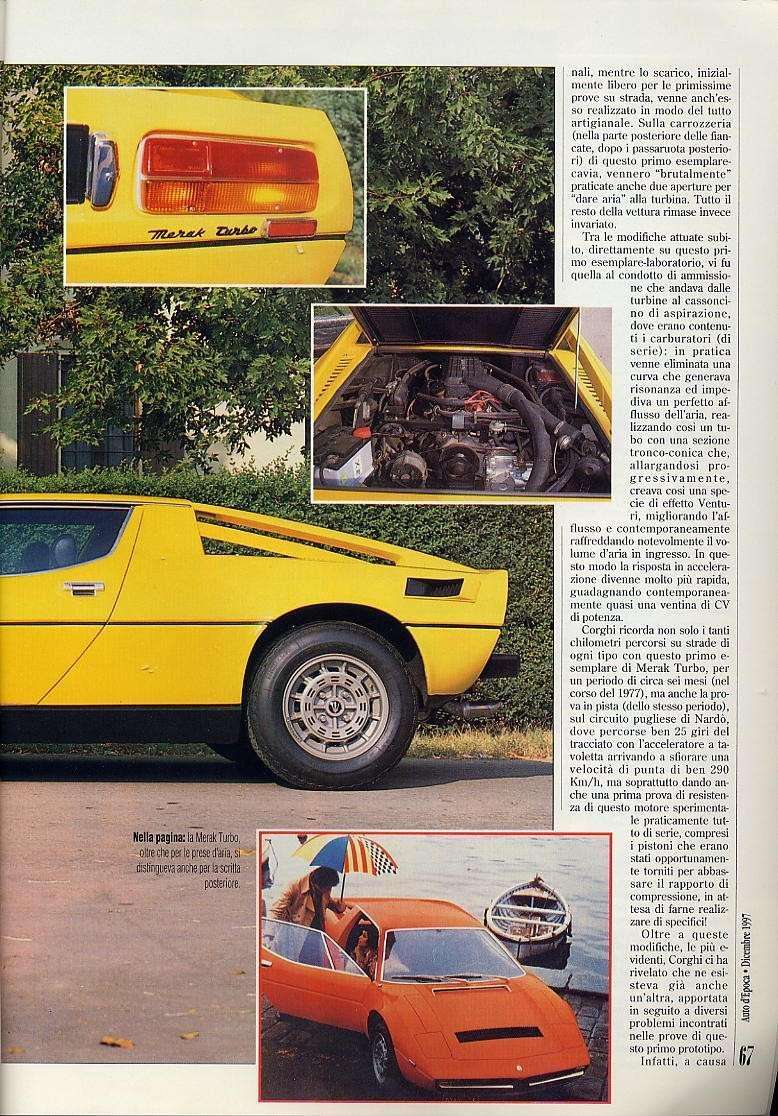 interessante articolo Merak turbo....auto d'epoca  dicembre 1997 03511
