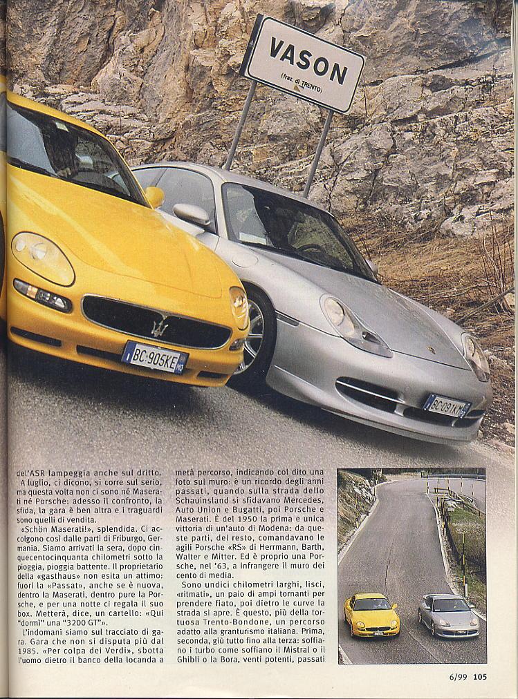 megaprova 3200gt vs 996 carrera ....quattroruote...giugno 1999 03610