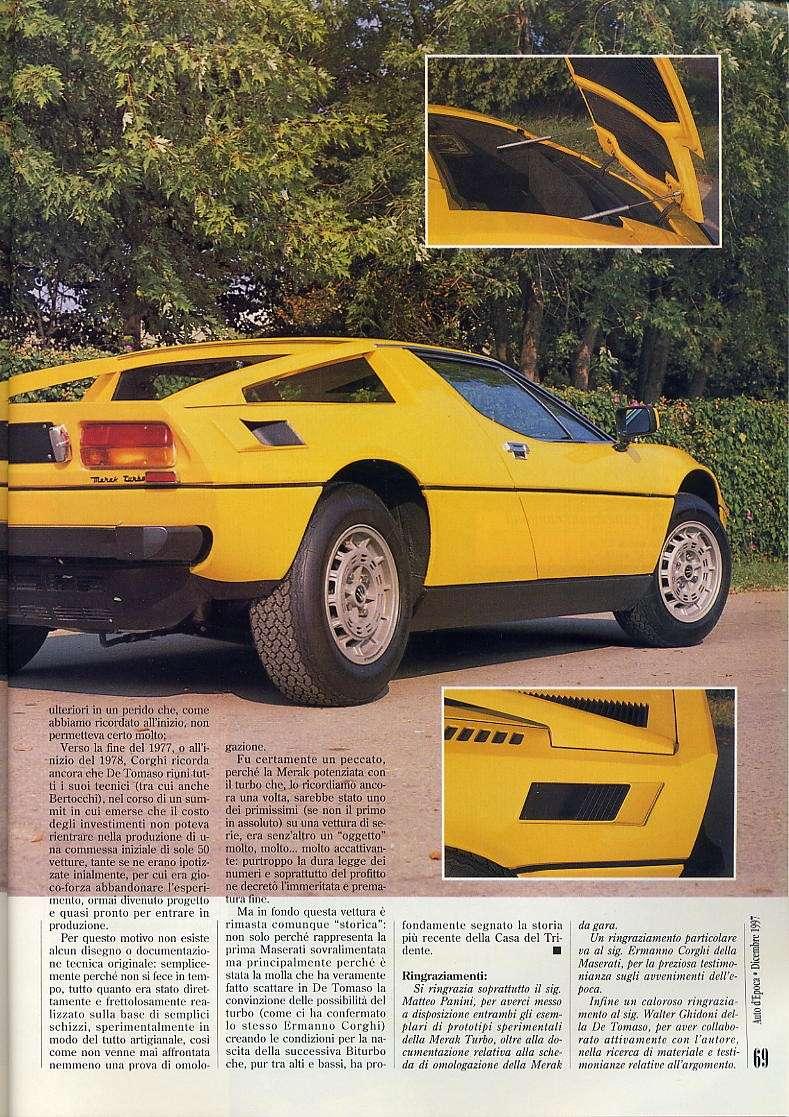 interessante articolo Merak turbo....auto d'epoca  dicembre 1997 03710