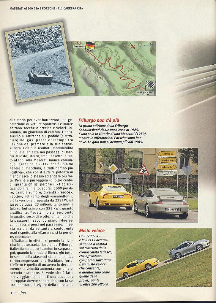 megaprova 3200gt vs 996 carrera ....quattroruote...giugno 1999 03811