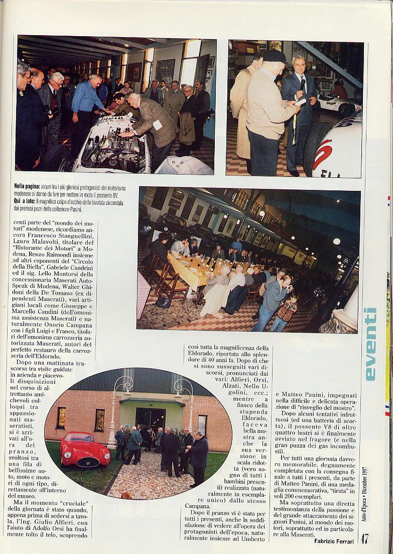presentazione restauro Eldorado.....auto d'epoca  dicembre 1997... 03910