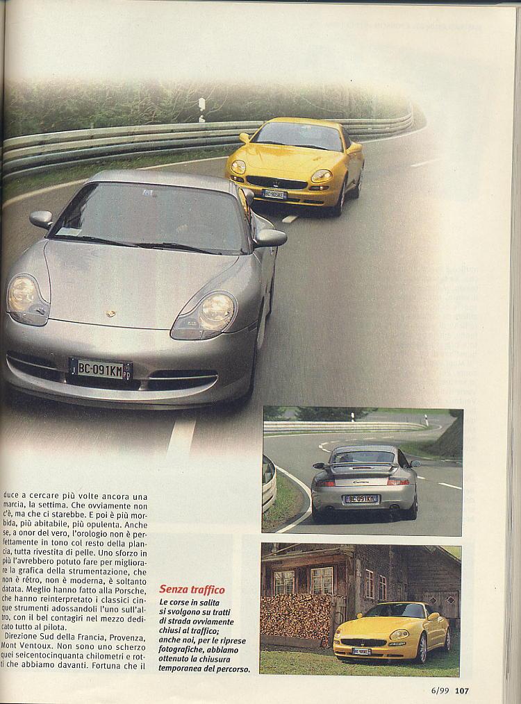 megaprova 3200gt vs 996 carrera ....quattroruote...giugno 1999 03911
