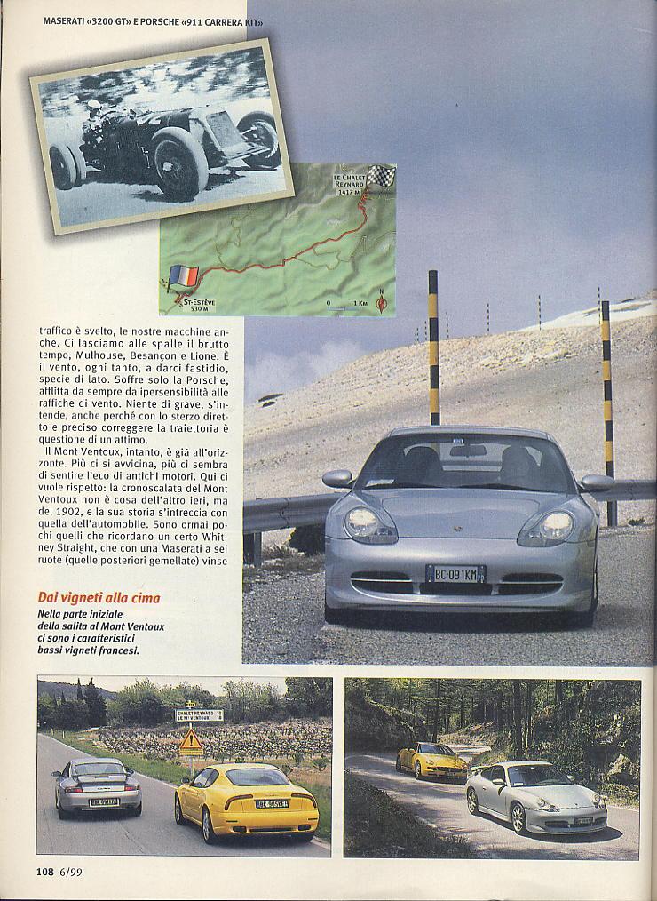 megaprova 3200gt vs 996 carrera ....quattroruote...giugno 1999 04010