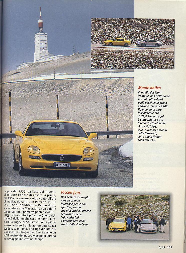megaprova 3200gt vs 996 carrera ....quattroruote...giugno 1999 04110