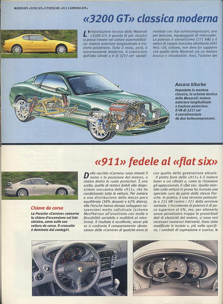 megaprova 3200gt vs 996 carrera ....quattroruote...giugno 1999 04210