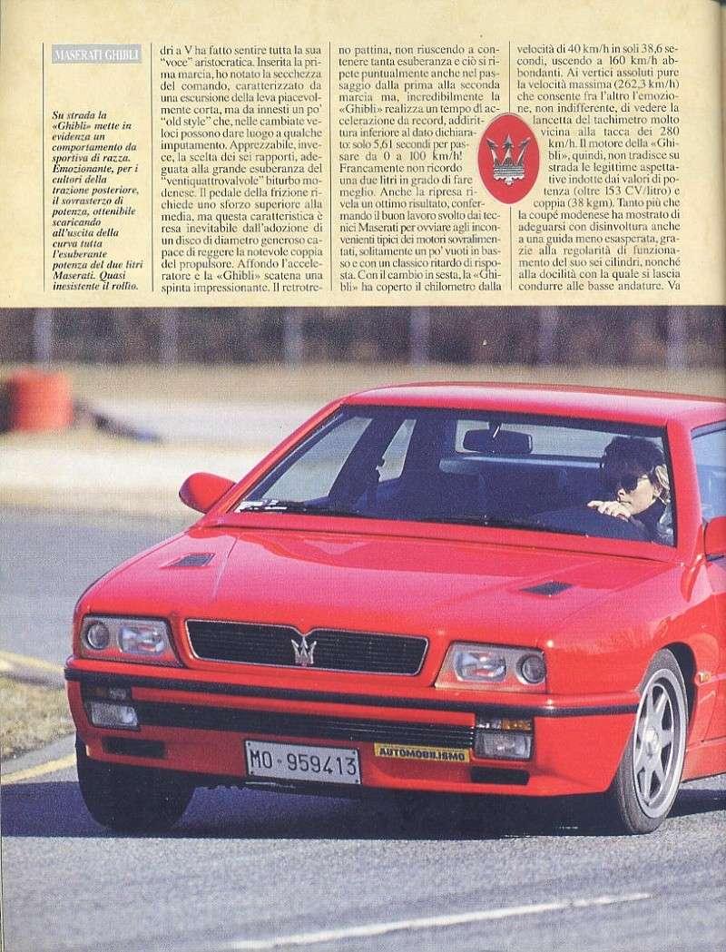 prova Ghibli ...automobilismo ...aprile 1993...tester..Tamara Vidali 07110