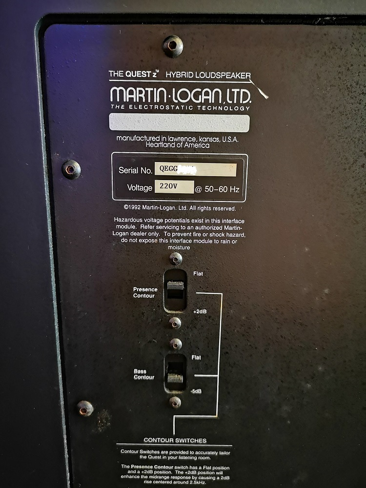 Martin Logan the quest Z speakers  (used) Img_2015