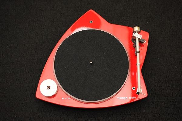 Thorens TD 309 Tri-Balance Manual Turntable (High Gloss Red) Thoren10