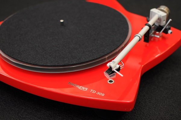 Thorens TD 309 Tri-Balance Manual Turntable (High Gloss Red) Thoren11