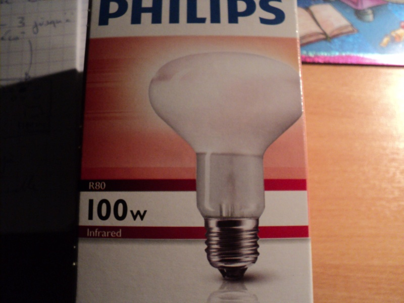 ampoule PHILIPS INFRARED 100W 00521