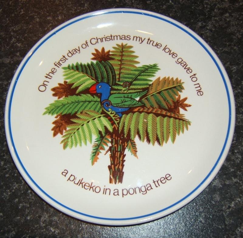 New Zealand Christmas Plate d841 Christ11