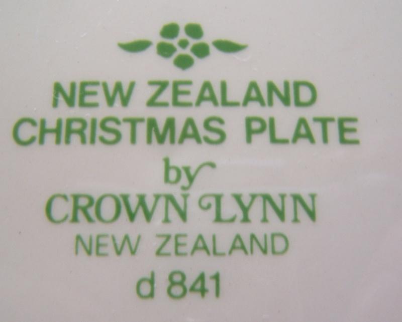New Zealand Christmas Plate d841 Christ12