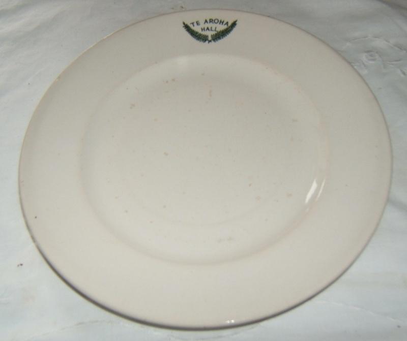 A monogrammed plate Te Aroha Hall Dscf8110