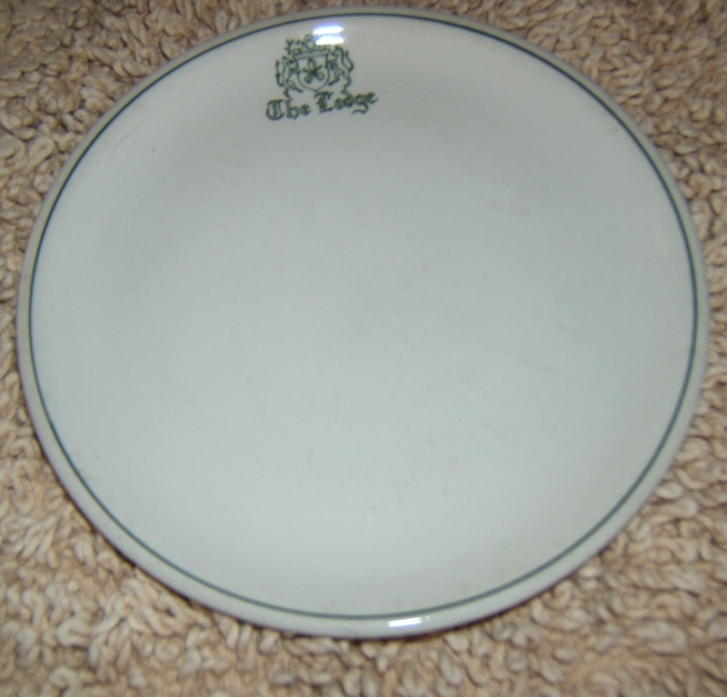 The Lodge Monogrammed plate The_lo10