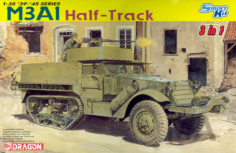 M3A1 Half-Track Dragon 1/35 6332he10