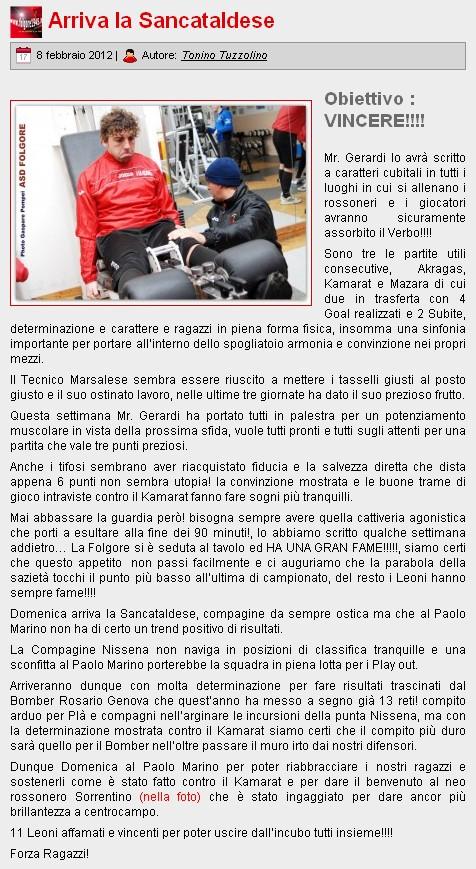 Campionato 21° Giornata:Folgore selinunte - Sancataldese 1-1 Folgor11