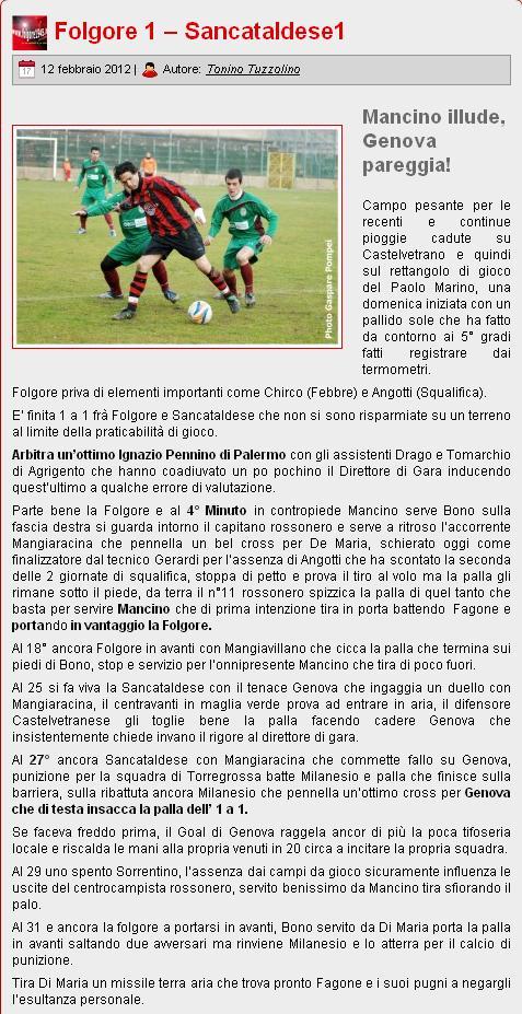 Campionato 21° Giornata:Folgore selinunte - Sancataldese 1-1 Folgor16