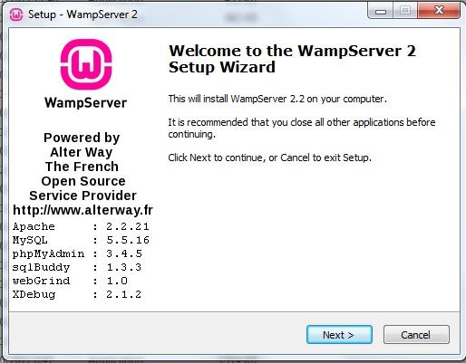 Cara Instal WampServer 2.2 Wamp110